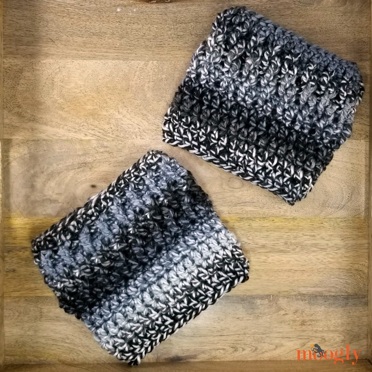 Smokestack Boot Cuffs - free crochet pattern on Moogly!