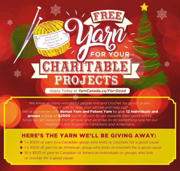 Yarn Canada Charity Yarn Giveaway 2019