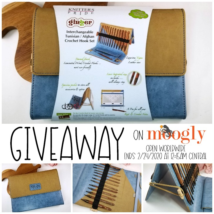 Knitter's Pride Ginger Interchangeable Tunisian Crochet Hook Set Giveaway on Moogly!