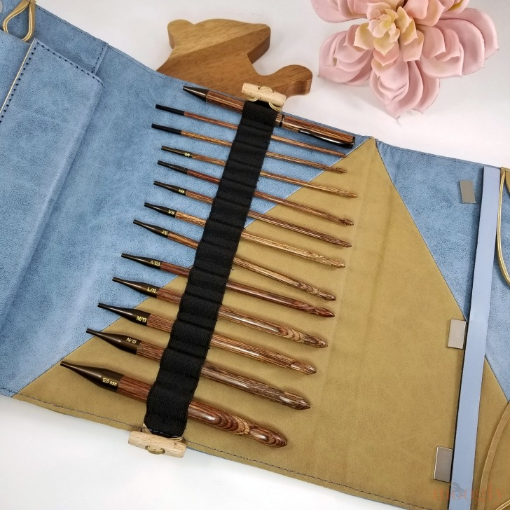 Knitter's Pride Ginger Interchangeable Tunisian Crochet Hook Set Giveaway - the hooks section
