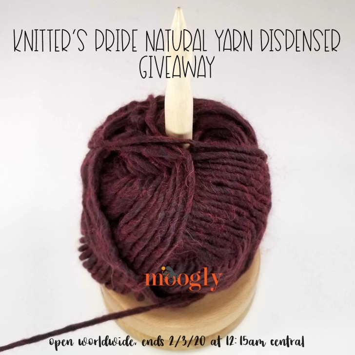 Knitter's Pride Natural Yarn Dispenser Giveaway on Moogly - SM