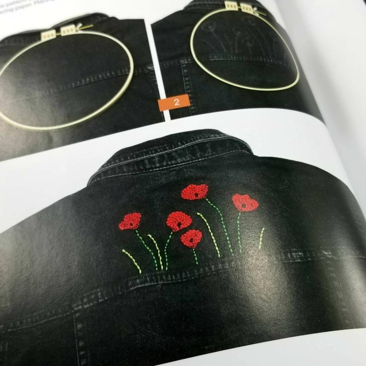 Modern Punch Needle - Denim Jacket Embellishements