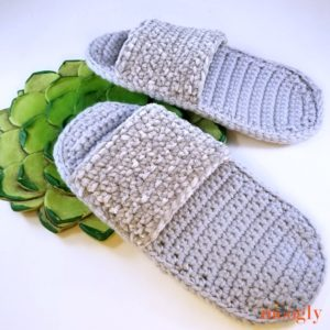 Simple Spa Slippers - succulent, DIR