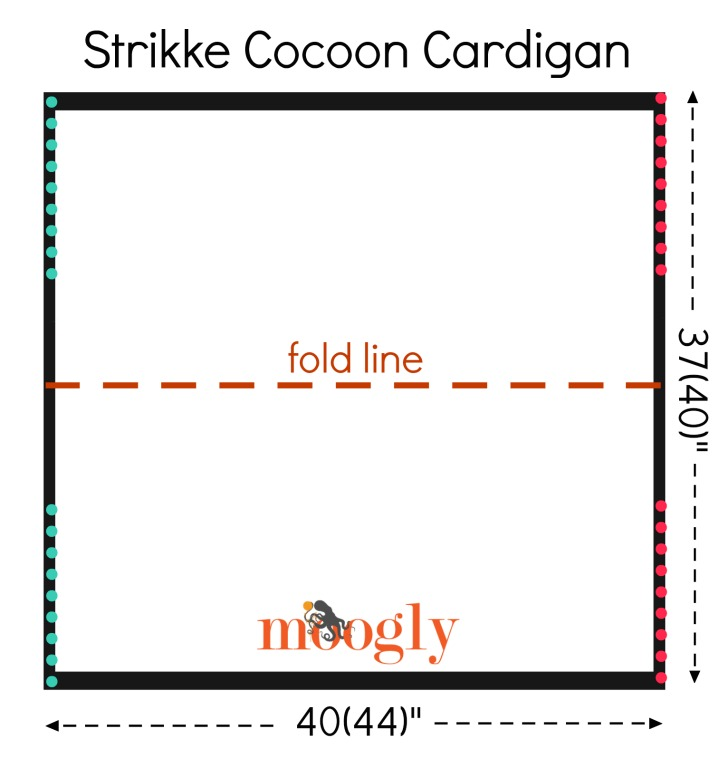 Strikke Cocoon Cardigan Schematic - get the free knit pattern on Mooglyblog.com!