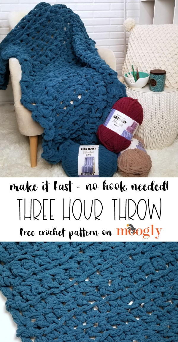Three Hour Throw - free crochet pattern on Moogly!