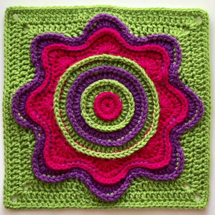 Flower Power Square by Pink Mambo