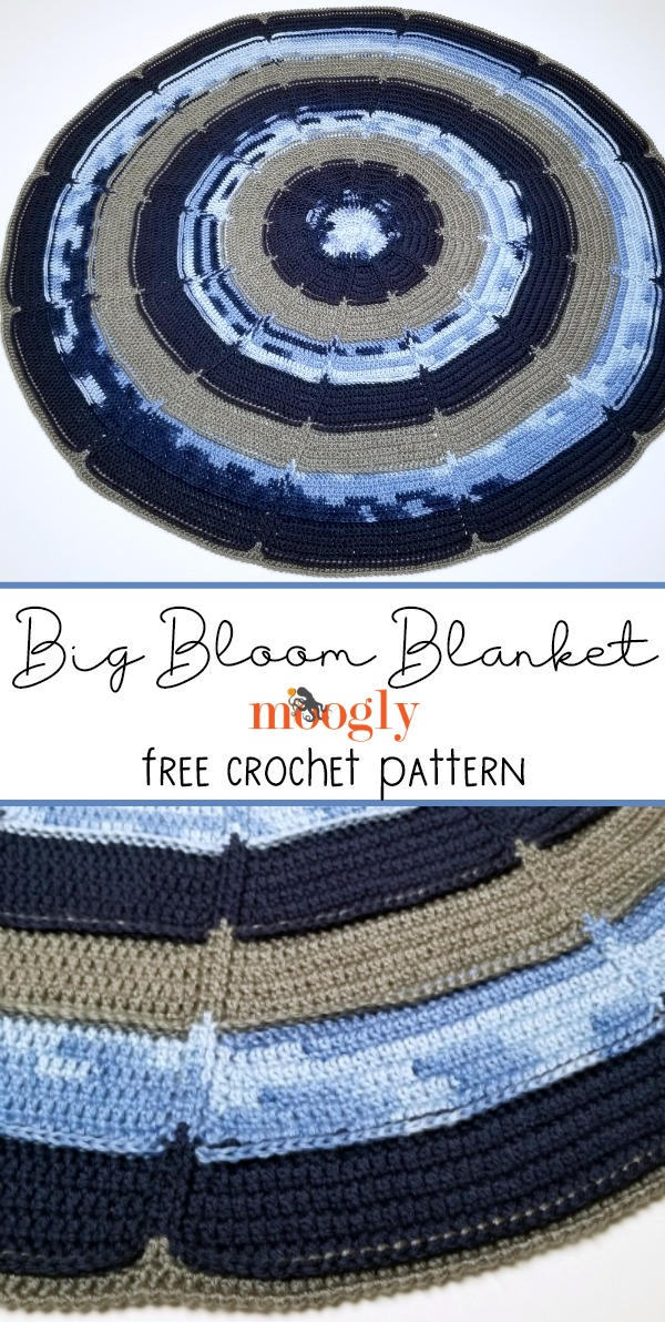 Big Bloom Blanket - get the free crochet pattern on Moogly!