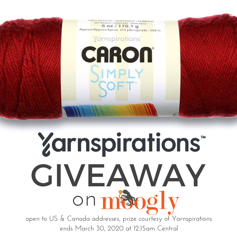 Win 10 Skeins of Caron Simply Soft on Moogly!