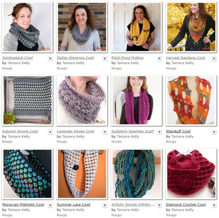 Moogly Cowl Patterns - all free on Mooglyblog.com!