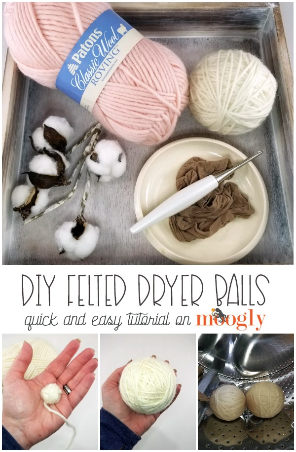 DIY Felted Dryer Balls - tutorial on Mooglyblog.com!