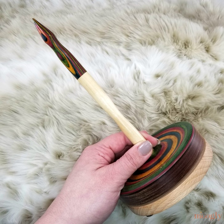 Knitter's Pride Signature Yarn Dispenser Giveaway - together, held diagonally