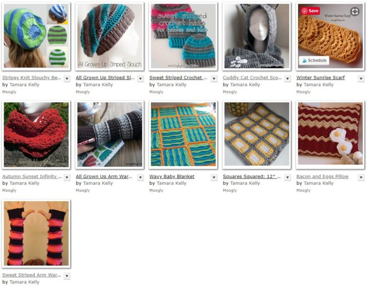 Moogly patterns using Caron Simply Soft