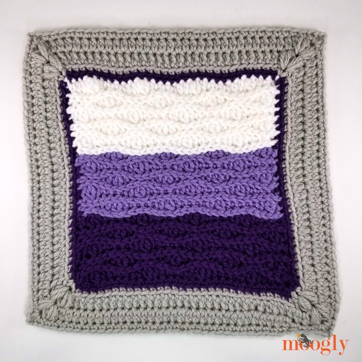 MooglyCAL2020 Block 4 - free year long crochet along on Moogly!