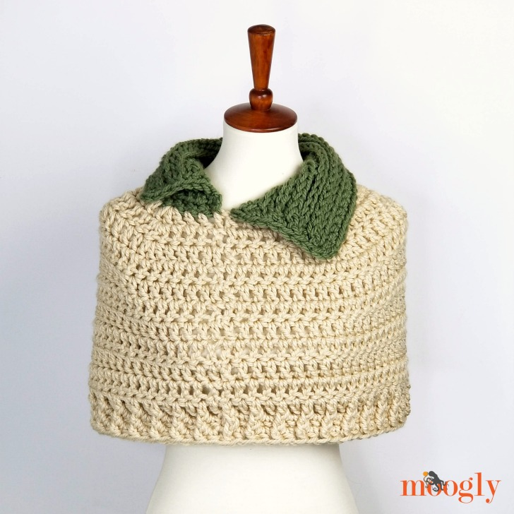Stitch In Time Capelet - free pattern on Moogly