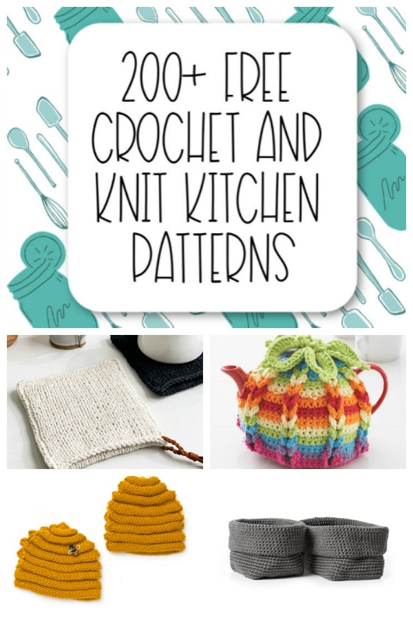 200+ Free Crochet and Knit Kitchen Patterns