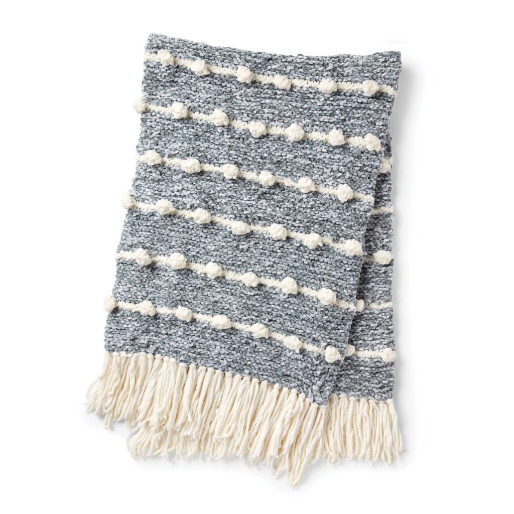 Bernat Bobble Line Knit Blanket - free pattern!