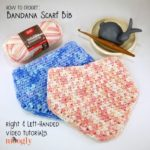 Bandana Scarf Bib & Moss Stitch Increases and Decreases Tutorial