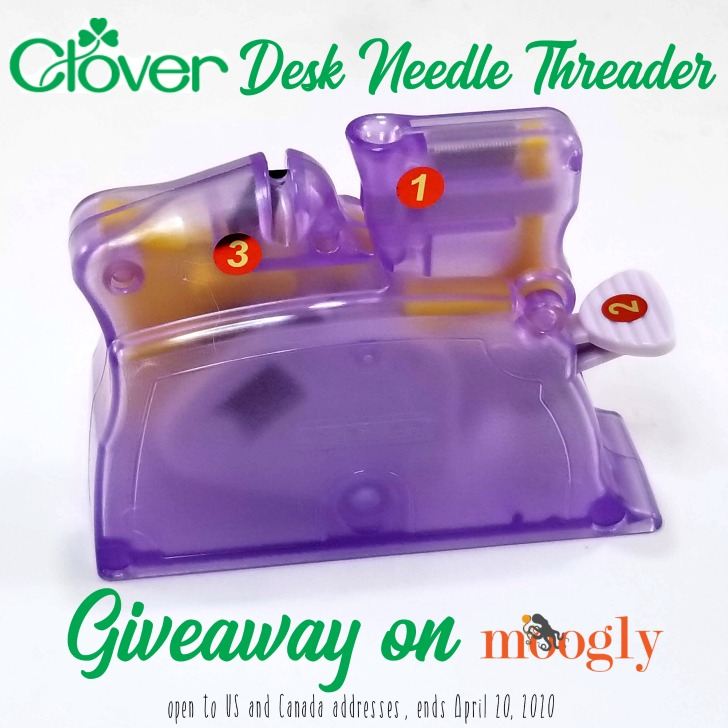 Clover Desk Needle Threader Giveaway on Moogly