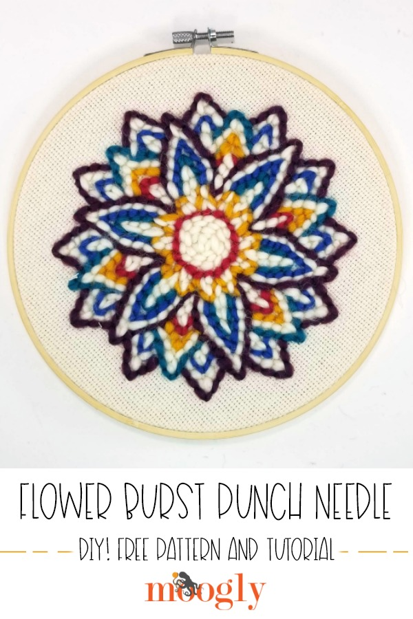 Flower Burst Punch Needle - Moogly