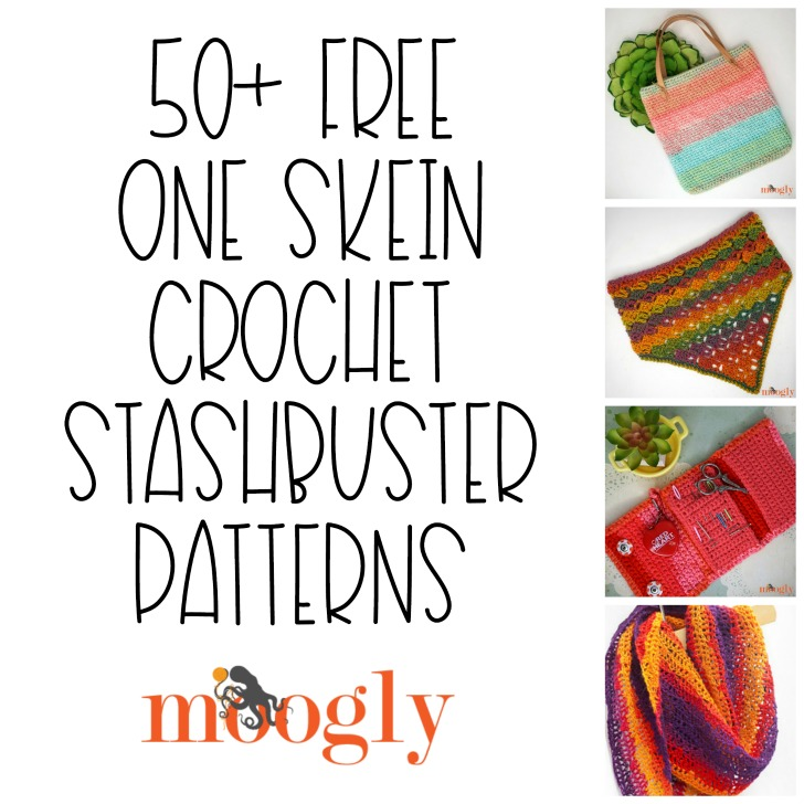Free One Skein Crochet Stashbuster Patterns on Moogly