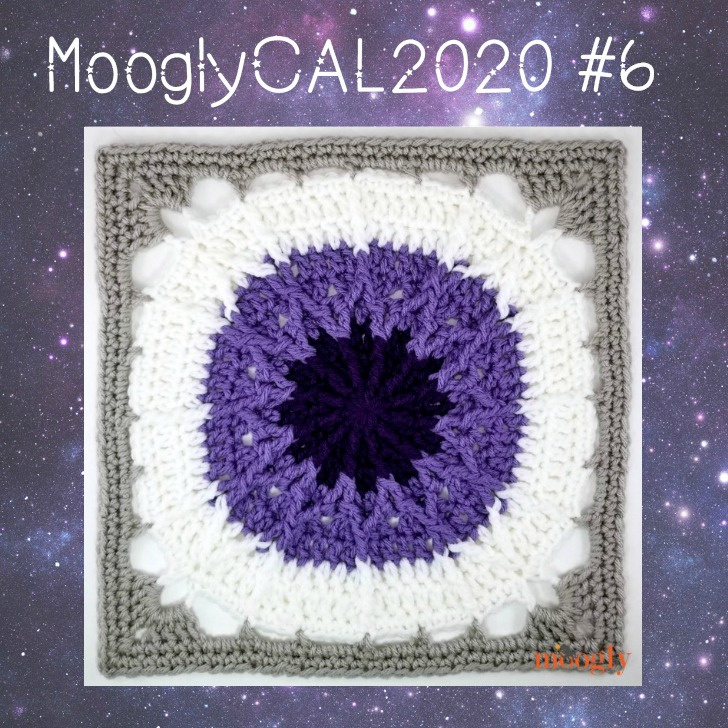 MooglyCAL2020 Block 6, courtesy of Cre8tion Crochet