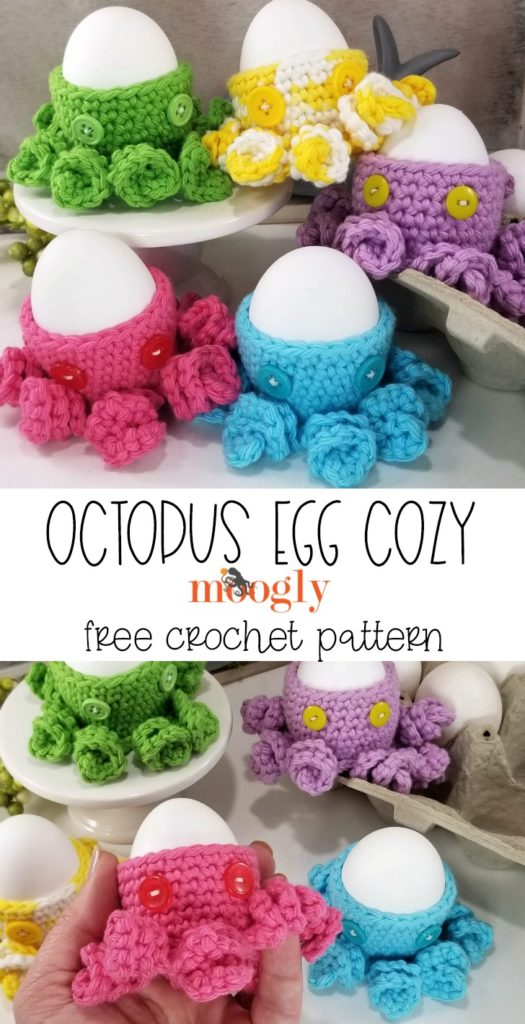 Octopus Egg Cozy - free pattern on Moogly!
