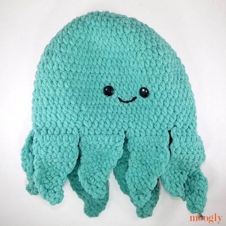 Octopus Squish - the finished body and tentacles