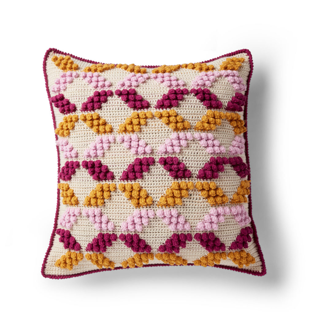 Patons Geo-Pop Crochet Pillow - free pattern!