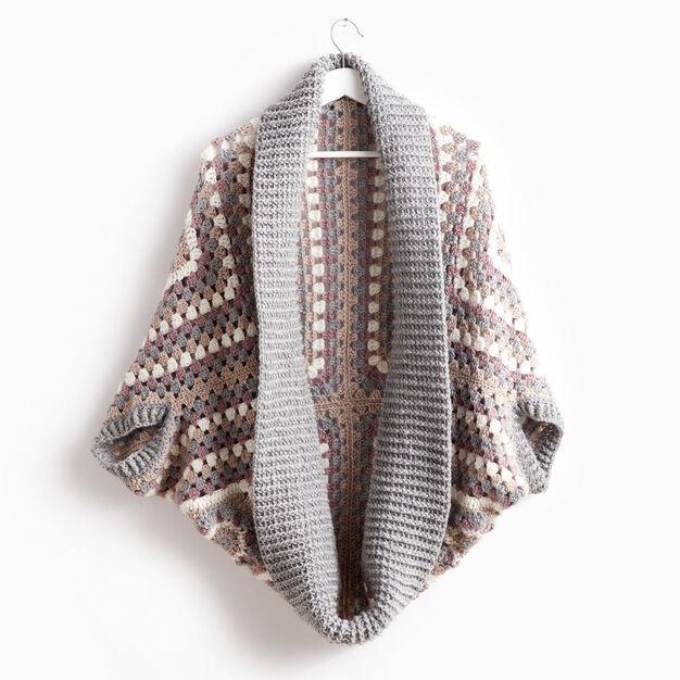 Patons Coziest Cardigan - free crochet pattern!