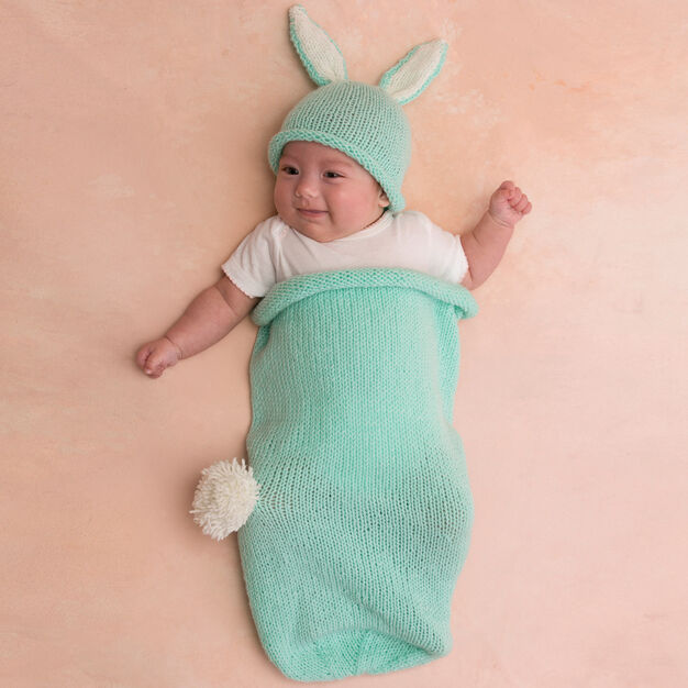 Red Heart Cottontail Bunny Cocoon and Hat