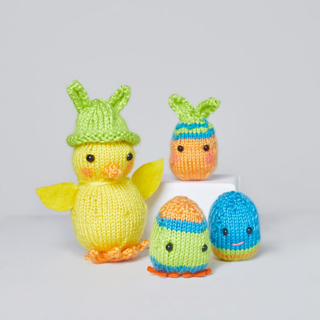 Red Heart Chrissy Knit Chick and the Egg-stras