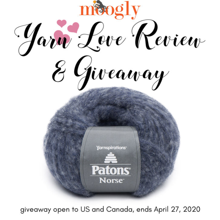 Patons Norse Yarn Love Review and Giveaway on Moogly