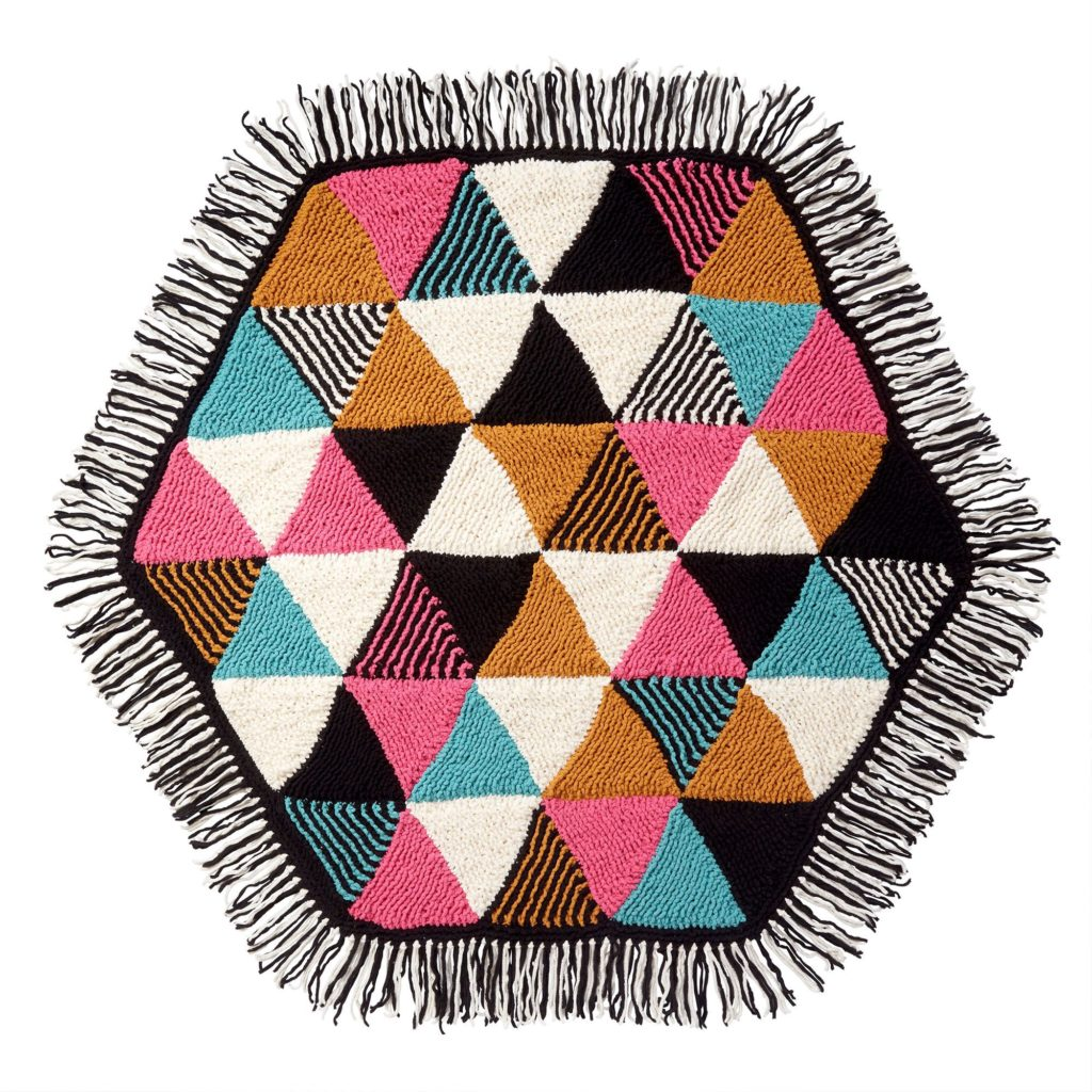 Knit Hexagon Throw - free pattern
