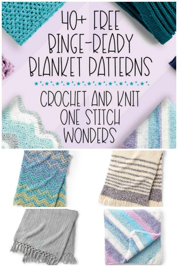 40+ Free Binge-Ready Blanket Patterns - Crochet and Knit on Moogly!
