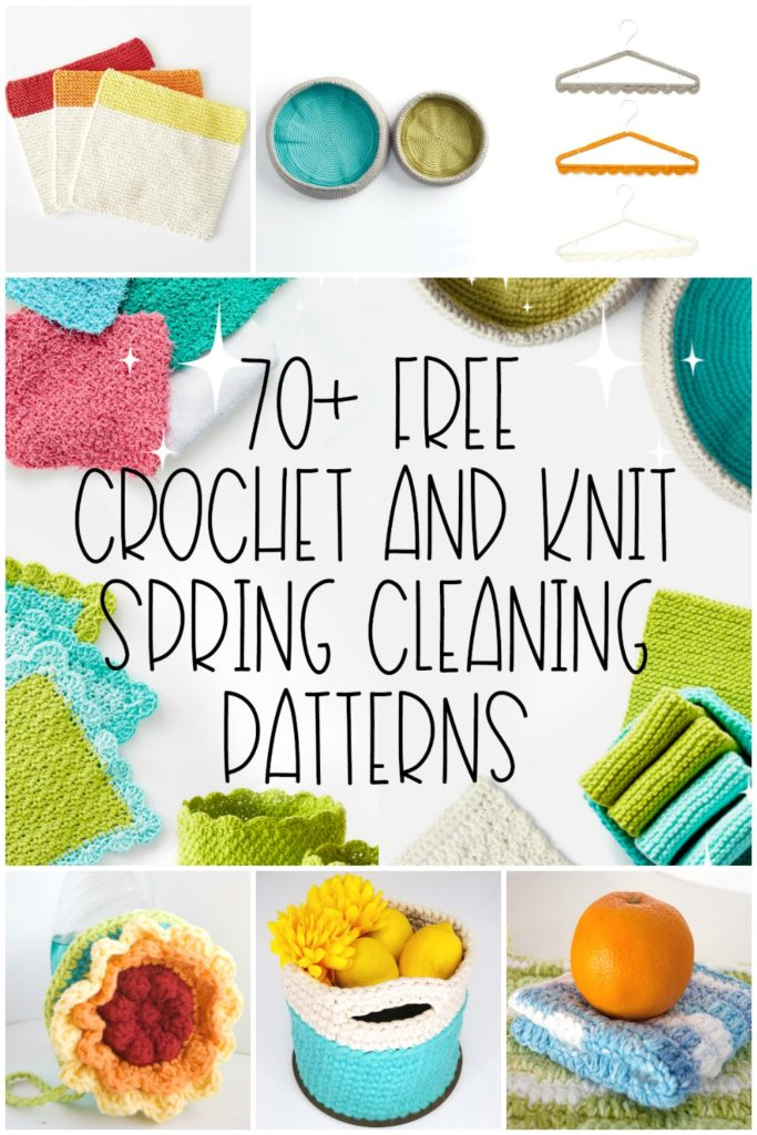 70+ Free Crochet and Knit Spring Cleaning Patterns - get them all on Moogly!