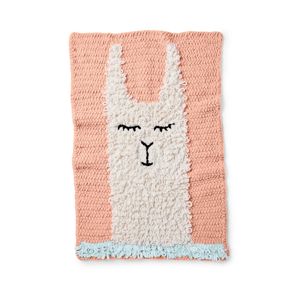 Bernat Loopy Llama Crochet Blanket - free pattern!