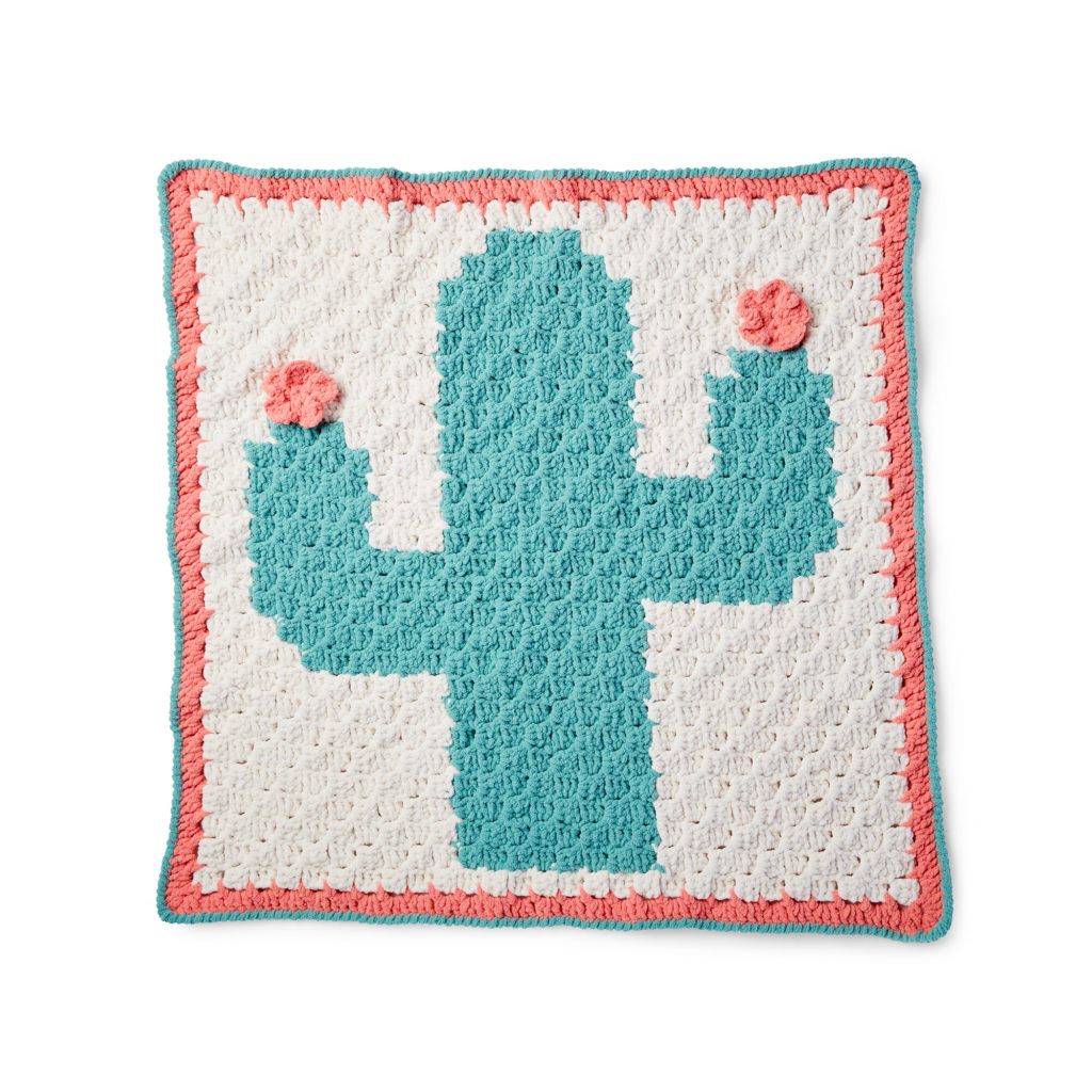 Bernat Corner to Corner Cactus Blanket - free crochet pattern!