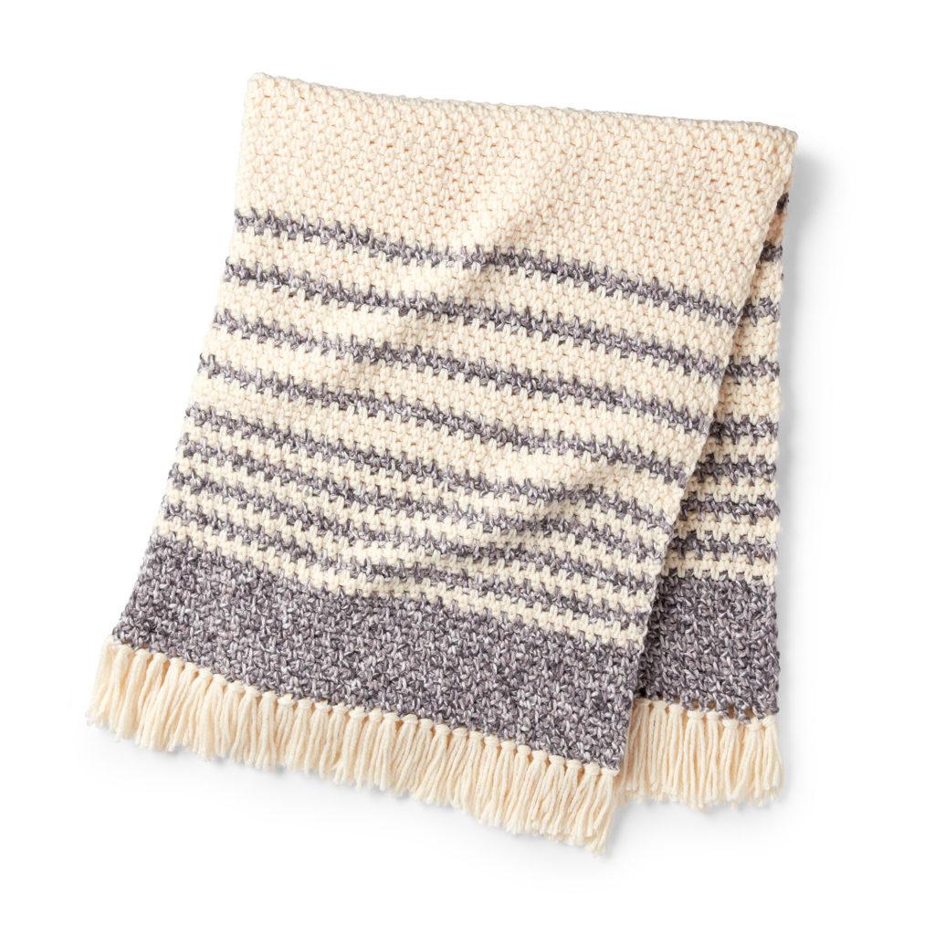 Bernat Twist and Weave Crochet Blanket - free crochet pattern!
