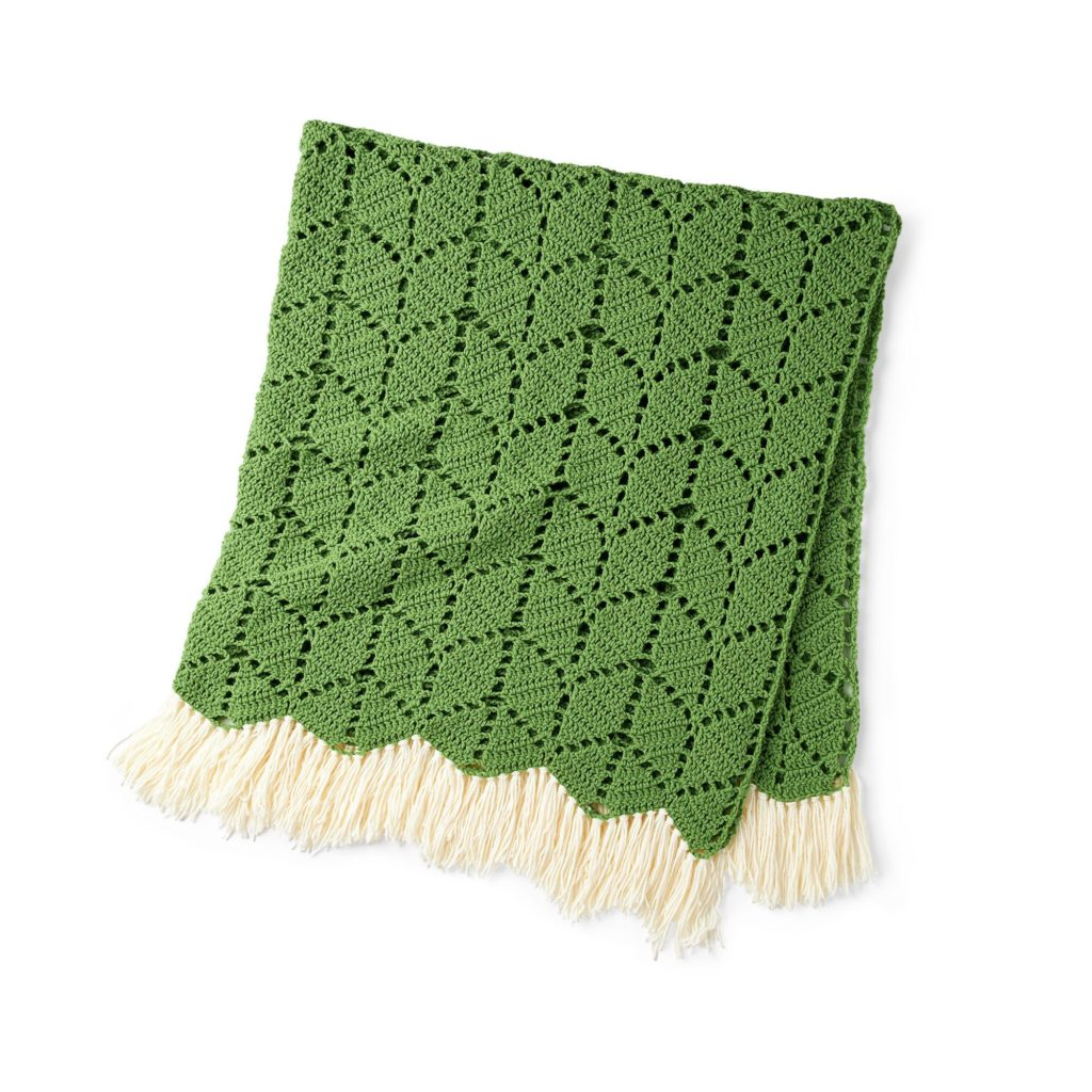 Bernat Growing Ivy Crochet Blanket - free pattern