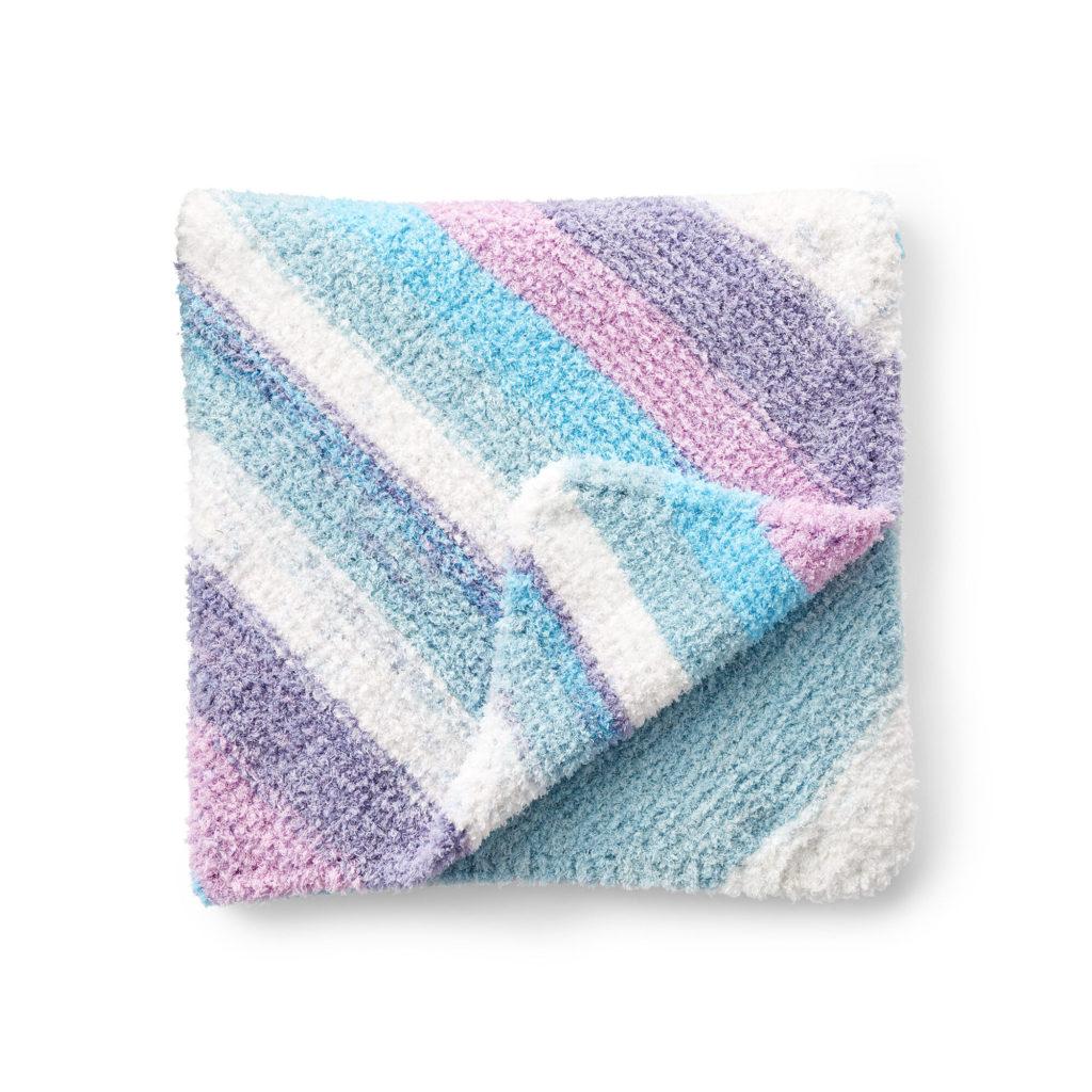 Bernat Slumber Stripes Knit Baby Blanket - free knit pattern!