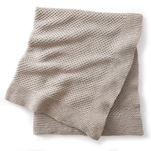 Bernat Quiet Times Knit Afghan - free knit pattern!