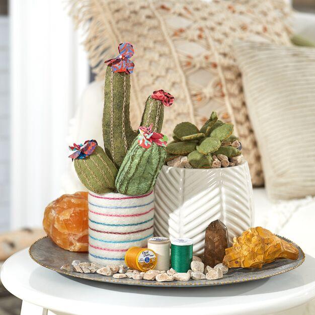 Dual Duty Cactus Garden - DIY cactus craft! Free pattern and tutorial!