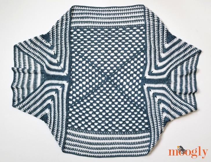 Handkerchief Cocoon - laid flat, assembled