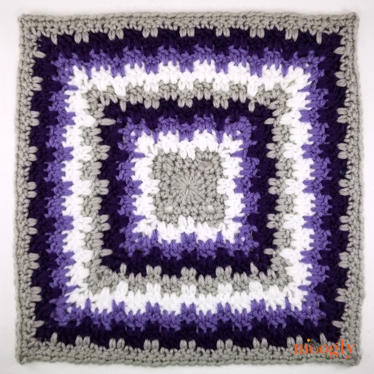 Leaping Stripes and Blocks Squared in 4 Colors - free pattern on Moogly!