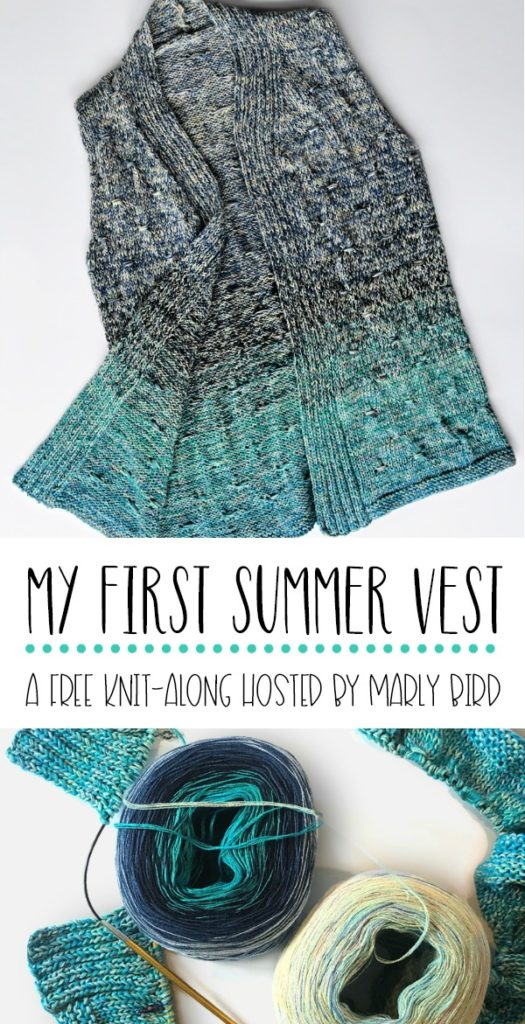 My First Summer Vest - A free knit along hosted by Marly Bird! Get the details on Moogly!