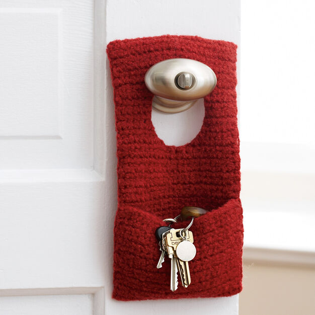 Patons Felted Door Knob Organizer - free crochet pattern!