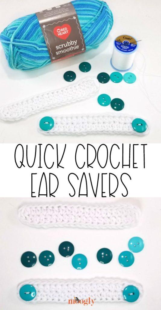 Quick Crochet Ear Savers - free on Moogly!