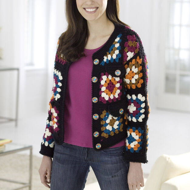 Red Heart Granny Square Jacket
