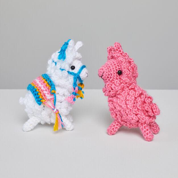 Red Heart Larry and Linda Crochet Llama - free crochet pattern download!