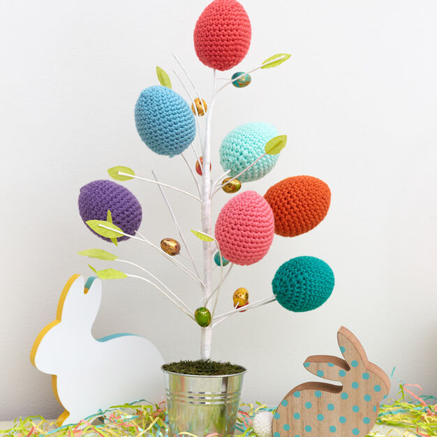 Red Heart Springtime Easter Eggs - free crochet pattern!